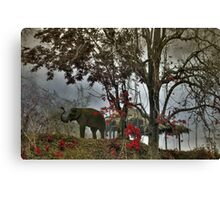 Elephants in north Thailand Canvas Print
