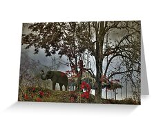 Elephants in north Thailand Greeting Card