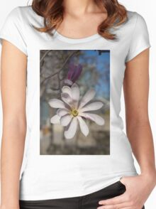 The Perfect Magnolia Blossom Women's Fitted Scoop T-Shirt