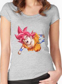 God Goku Women's Fitted Scoop T-Shirt