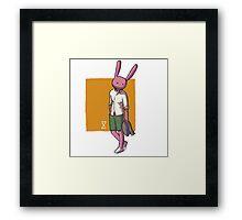 fashion, clothes, rabbits, models Framed Print