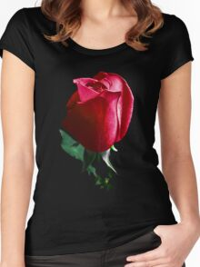 Rose Red. Women's Fitted Scoop T-Shirt