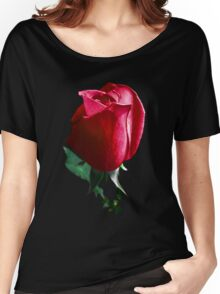 Rose Red. Women's Relaxed Fit T-Shirt
