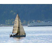 Alki Sailing Photographic Print
