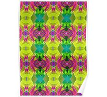 Fractal Geometric Flowers Poster
