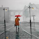 RAINY DAY WATERCOLOUR PAINTING by gordonbruce