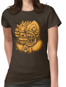 Donkey Kong Bananas Womens Fitted T-Shirt