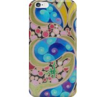 Psychedelic Blue Paisley  iPhone Case/Skin