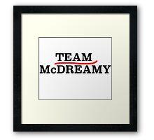Team McDreamy Grey's Anatomy! Framed Print