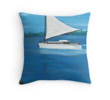 Fun Weekend on Lake Eustis Throw Pillow