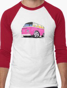 VW Bay Window Camper Van A Pink Men's Baseball ¾ T-Shirt