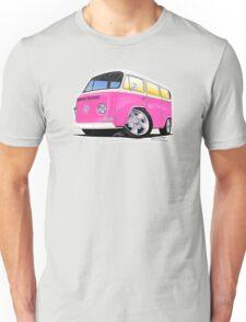VW Bay Window Camper Van A Pink Unisex T-Shirt
