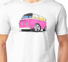 VW Bay Window Camper Van A Pink Unisex T-Shirt
