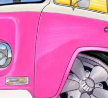 VW Bay Window Camper Van A Pink Sticker