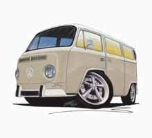 VW Bay Window Camper Van B Cream Kids Clothes