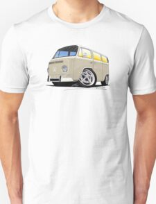 VW Bay Window Camper Van B Cream Unisex T-Shirt