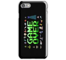 Game over, 80s style. iPhone Case/Skin
