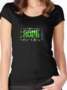 Game over, 80s style. Women's Fitted Scoop T-Shirt