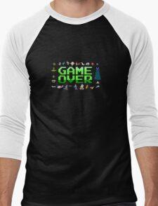 Game over, 80s style. Men's Baseball ¾ T-Shirt