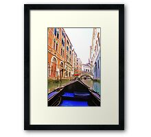 front veiw from the gondola Framed Print