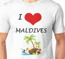 I LOVE MALDIVES Unisex T-Shirt