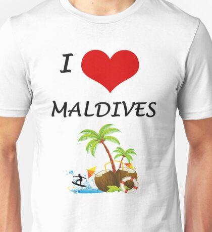 I LOVE MALDIVES Unisex T-Shirt