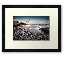 Rocks on the Beach Framed Print