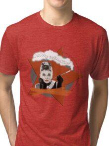 Audrey Hepburn in Breakfast at Tiffanys Tri-blend T-Shirt