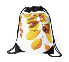 Nature and Geometry - Yellow Leaves  Drawstring Bag