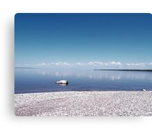 a lonely rock Canvas Print
