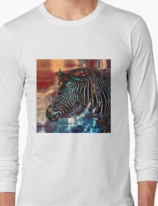 psychedelic zebra Long Sleeve T-Shirt