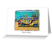 Surf Art /peace & love Greeting Card