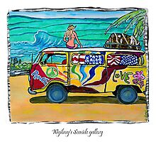 Surf Art /peace & love Photographic Print