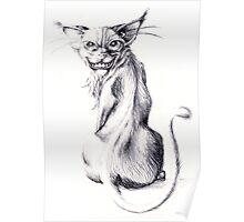 Grins the Cat Poster
