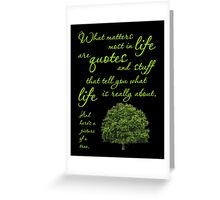 What Matters Most Inspirational Quote Tree Greeting Card
