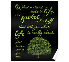 What Matters Most Inspirational Quote Tree Poster