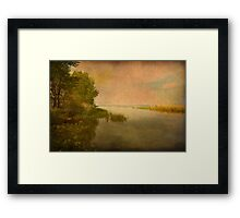 Vintage Sunset Framed Print