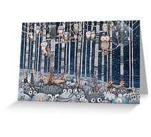 First snow in the Forest Greeting Card