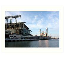 Giants Stadium From The Street Art Print