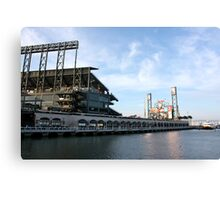 Giants Stadium From The Street Canvas Print