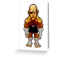 Sagat v.2 Greeting Card