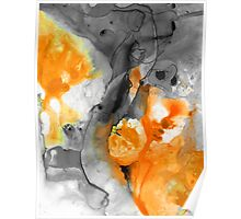 Orange Abstract Art - Iced Tangerine - By Sharon Cummings Poster