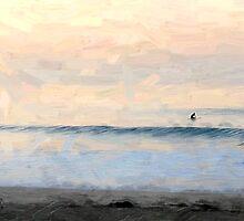 Sunrise Fun at the Bu_Malibu, CA by Ron Regalado