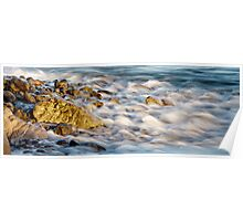 Golden Rocks and Sea Poster