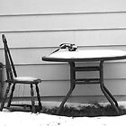 Typewriter in the snow by Larry McLean