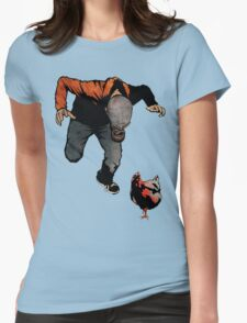 THE RETURN OF LEROY VS THE EVIL ZOMBIE CHICKEN! Womens Fitted T-Shirt