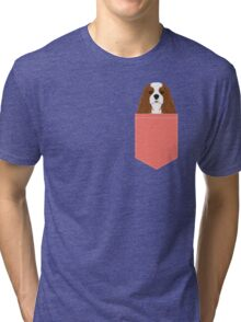 Bode - King Charles Spaniel customizable pet art for dog lovers  Tri-blend T-Shirt