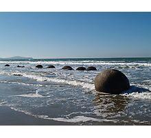 Boulders-Moeraki south island Photographic Print