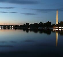 Sunset on the Washington Monument, Washington DC by Jerome Petteys
