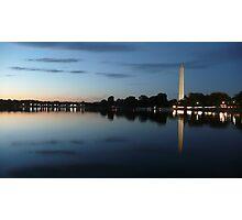 Sunset on the Washington Monument, Washington DC Photographic Print